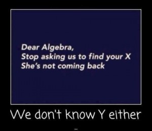 Dear Algebra