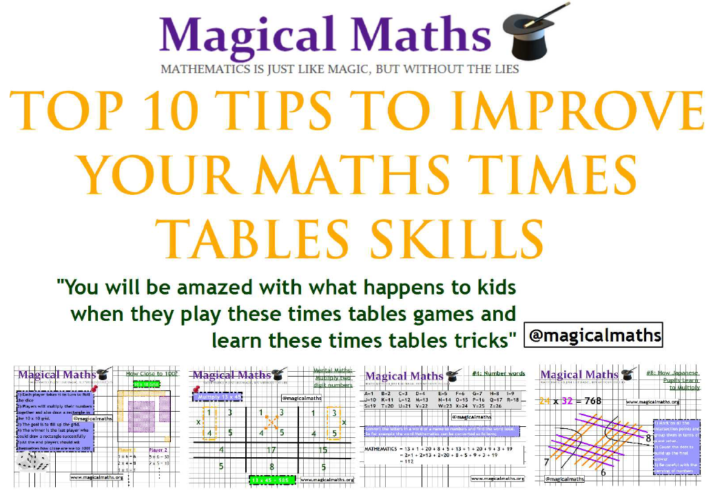 Top 10 tips to improve your times tables skills - How to learn your times tables ...