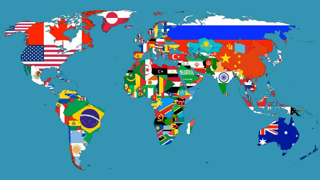 flags-world-map