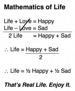 the simultaneous equation of life