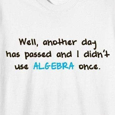 Why do we learn Algebra, where is it used in everyday life? Mathematics in daily life!