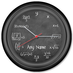 maths wall clock 1