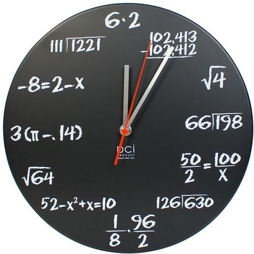 maths wall clock 2