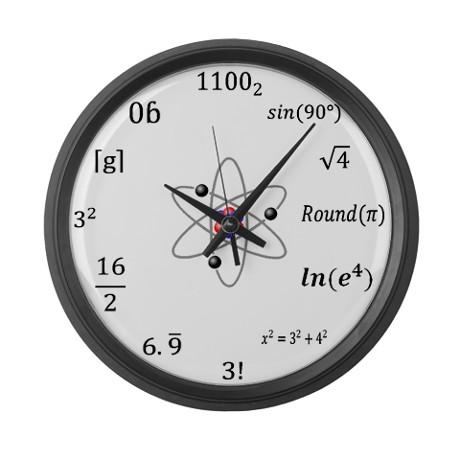 maths wall clock 3