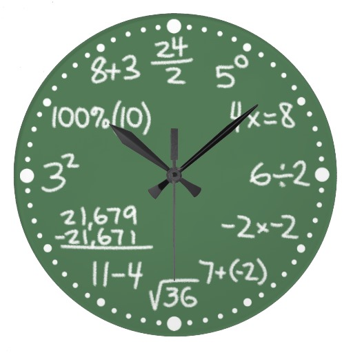 maths wall clock 5