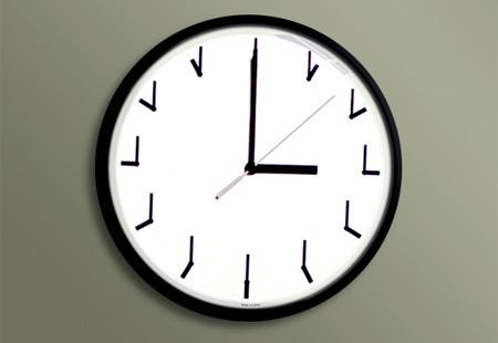 maths wall clock 6
