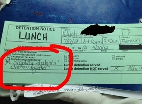 Top Funny Examples Detention Slips Given Pupils Don
