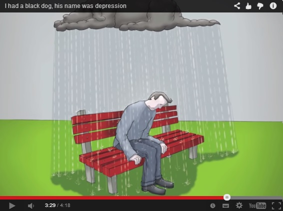 black dog and depression