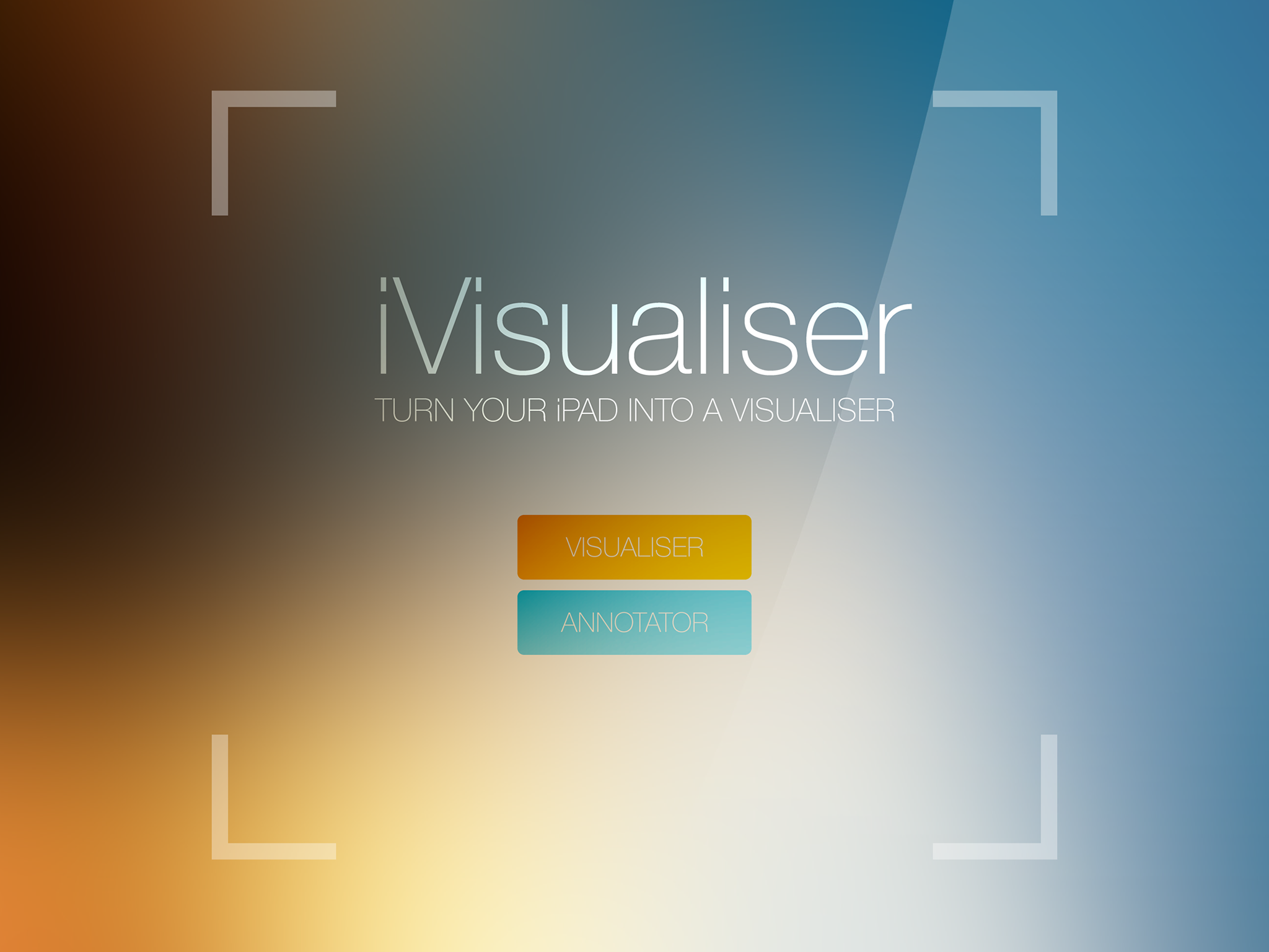 WOW! Download the iVisualiser app and turn your Ipad into a visualiser!