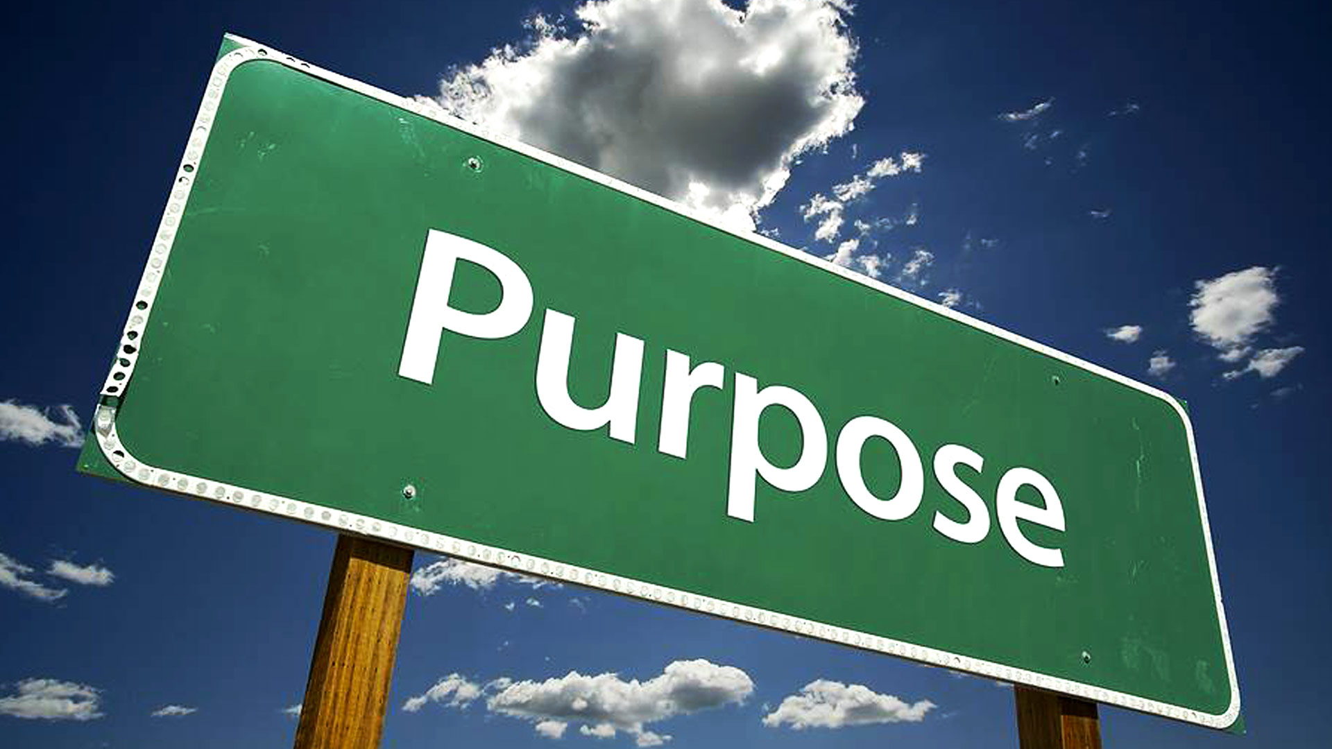 The purpose of life is a life of purpose!!