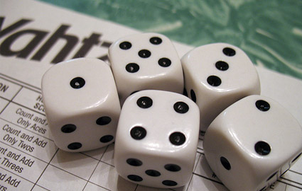 You have to try this great probability experiment! 1296 and Yahtzee!