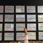 wall display wordle