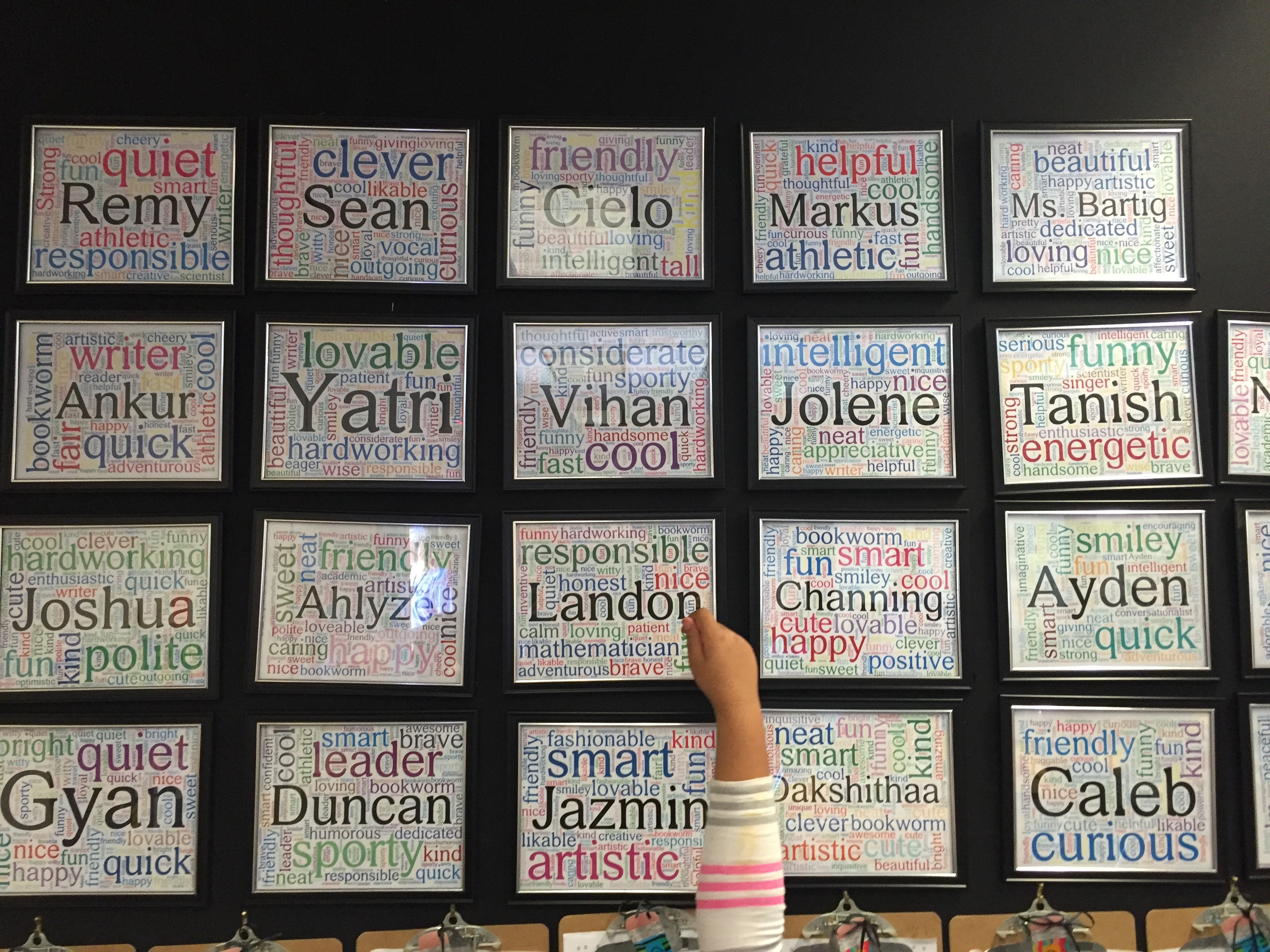 Have you seen this amazing classroom display idea? Student Expression Through Word Clouds!