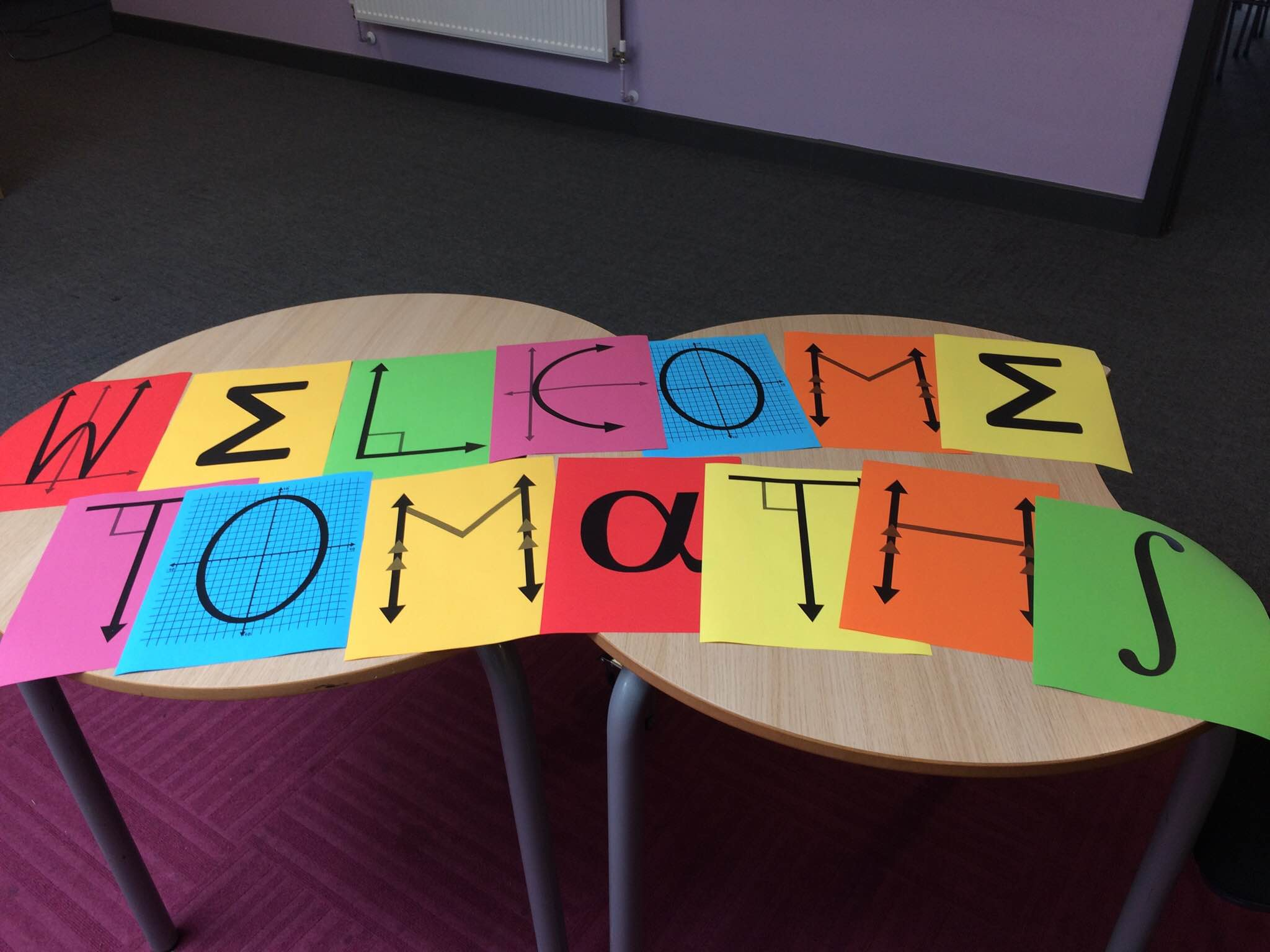 Welcome to Maths – A new display for our Maths corridor!