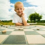 Outdoor chess stones